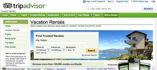Vacation Rentals Service in Singapore and Malaysia by TripAdvisor