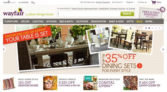 started in 2002 wayfair offers aspects like home furniture renovation materials outdoor furniture lighting solutions decorative items and toy items in
