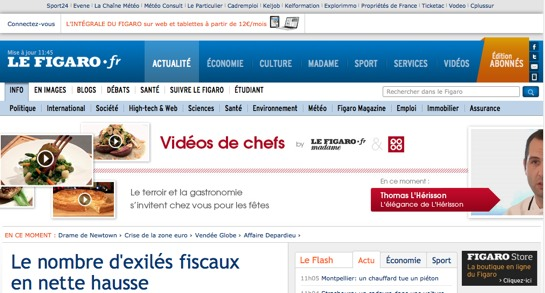 how to say website in french